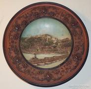 Antik terracotta fali tányér Johann Maresch 1904