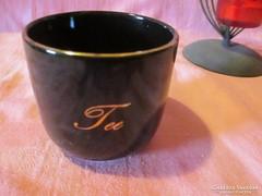Finomított kerámia fekete kávés csésze  Á004