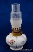 Aranyozott rózsás porcelán petróleum lámpa