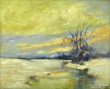 Magyar festő, 1920 körül : Téli táj