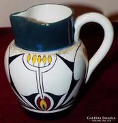 Antik Jugendstil Szecessziós tejkiöntő porcelán,