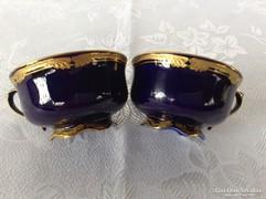 Kék-arany színű csésze páros