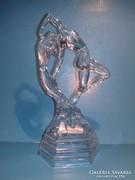 Kristály üveg női akt szobor