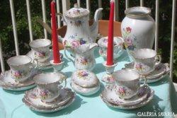 75 éves! Royal   meseszép porcelán áttört készlet