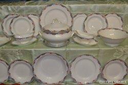 140 ÉVES! Sarreguemines Francia 6 szem. porcelán étkészlet!