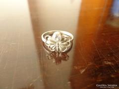 Ezüst pillangós antik gyűrű