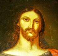 200 éves Krisztus portré antik festmény