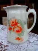 Porcelán rózsás tejkiöntő,szép!