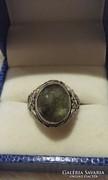 Labradorit kővel foglalt csodaszép gyűrű, ezüst ag925