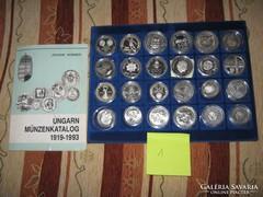Magyar ezüst emlékérem gyűjtemény 61 db