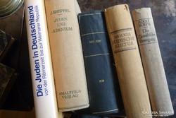 Judaika  -  német nyelvű könyvcsomag   -zsidó könyvek