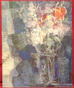 Tscheligi Lajos / Virágok üvegvázában - álomkép