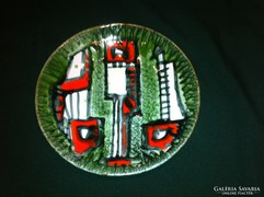 Iparművész zöld-piros falitál