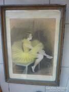 Sárga tüllszoknyás balerina, jelzéssel 1932-ből