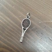Régi teniszütő ezüst medál