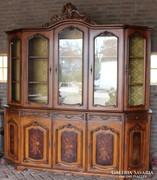 Gyönyörű intarziás neobarokk tálaló szekrény!
