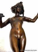 """Art deco bronz szobor """"táncosnő"""""""