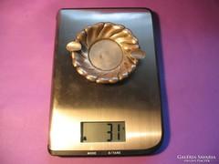 Ezüst hamutál hamuzó 10,5 x 9 x 1,5 cm 61 g 800-as 1937-1966