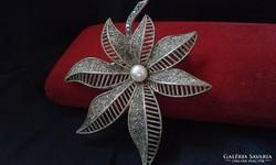 THEODOR FAHRNER ezüst bross