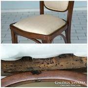 6 db.  szecessziós szék eredeti állapotban