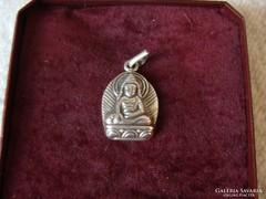 Domború 925-ös Buddha medál