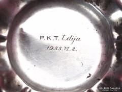 P.K.T.1935 tisztelet díj, ezüst tálka.
