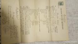 Érettséi bizonyítvány 1916
