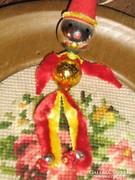 Antik régi vintage ritka különleges karácsonyfadísz figura