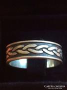 Férfi ezüst gyűrű fonott mintával