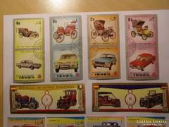 Külföldi autós bélyegek
