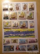 Hajós külföldi bélyegek