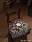 Neorokokó szék kárpitozott, tömör dió