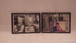 Családi fotók üvegezett fa képkeret falc 15x21,5 cm