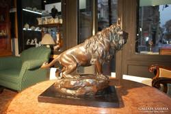 Vastagh György (1868-1946) szobrász , Hím oroszlán, bronz