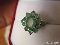 RITKASÁG! Valódi tiszta SMARAGD 925 ezüst gyűrű - kisméret