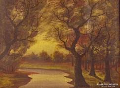 0J651 Mille jelzéssel: Őszi erdő xx. sz. első fele