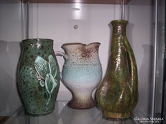 3 kerámia váza