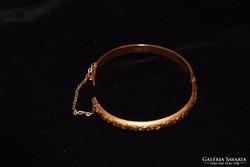 Antik, 15K arany vésett női karkötő