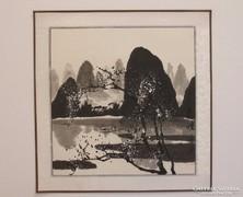 Téli tájkép, kínai festmény