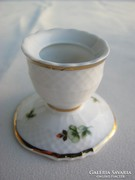 Hollóházi porcelán Erika mintás gyertyatartó
