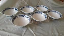 Kobaltkék mintás leveses csésze Bavaria