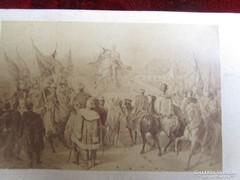 FERENC JÓZSEF LÓHÁTON KORONÁZÁS CVD KEMÉNYHÁTÚ FOTÓ 1867