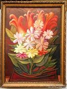 Csendélet virágokkal 25 x 32 cm