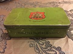Huntley & Palmers Biscuits kekszes antik fém doboz