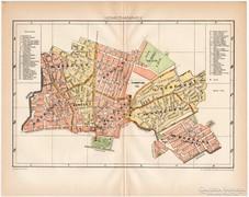 Hódmezővásárhely térkép 1895, Pallas, antik, eredeti