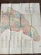 Erdély és Partium nagyméretű térképe