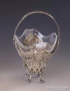 Ezüst barokk stílusú kínáló