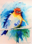 Biró Richárd művészi akvarellje a madaras sorozatból!