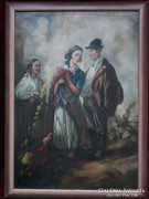 Nagy méretű eredeti Ács Ágoston festmény