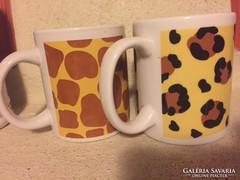 Állat-mintás kerámia bögre, csésze (90)